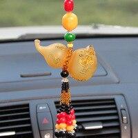 Kristal kabak şekli asılı kolye renkli sır el sanatları araba aksesuarları ev dekorasyon figürler Fengshui süsler Süs Bitkileri Otomobiller ve Motosikletler -