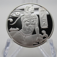 New Arrived Egypt Cleopatra Silver Medals Coins Africa Algeria Libya, Morocco and Ethiopia Commemorative Coins