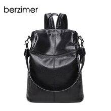 베르사이머 새로운 세련된 여성 배낭 패션 여성 가방 여성을위한 멋진 검은 부드러운 가죽 대용량 가방 2018