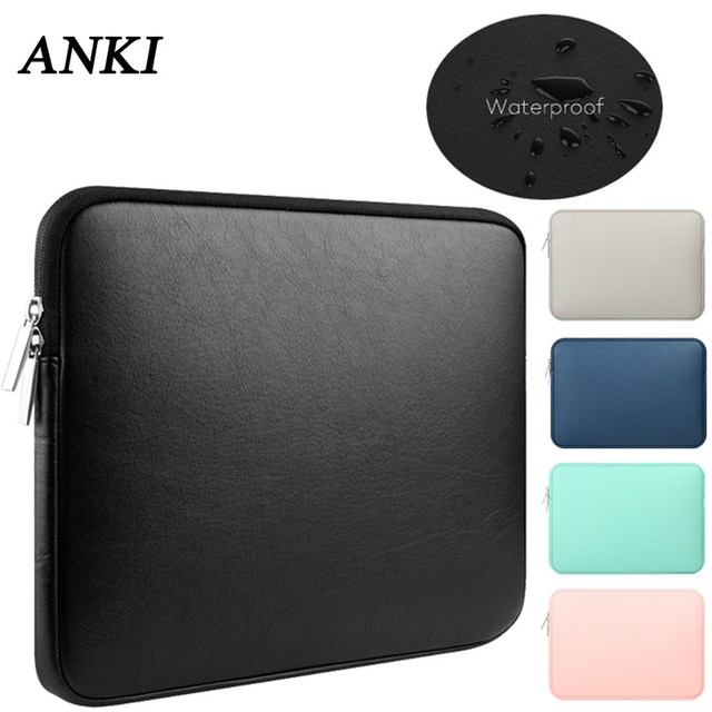 92b54c72eb7f US $8.22 16% OFF|Soft PU Leather 13.3 15 touch bar Waterproof pouch sleeve  bag for Macbook Air 13 Pro Retina 11 12 14 inch notebooks laptop case-in ...