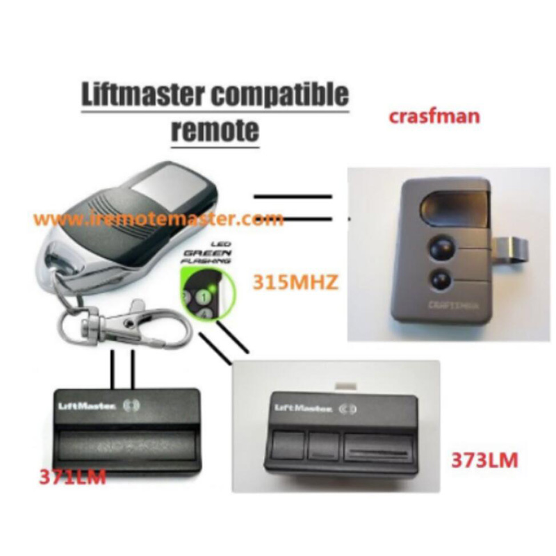 10pcs LiftMaster 371LM 372LM 373LM replacement Remote control 315mhz FINE