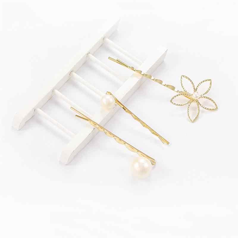 3 шт. цветочные жемчужные заколки для волос женские заколки для волос заколки аксессуары для прически Шпилька Свадебные аксессуары для прически