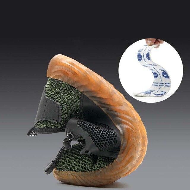 Новая выставка 2019 легкая Мода дышащая защитная обувь мужчины стальной носок анти-разбив тапки рабочие защитные сапоги 35-46 2