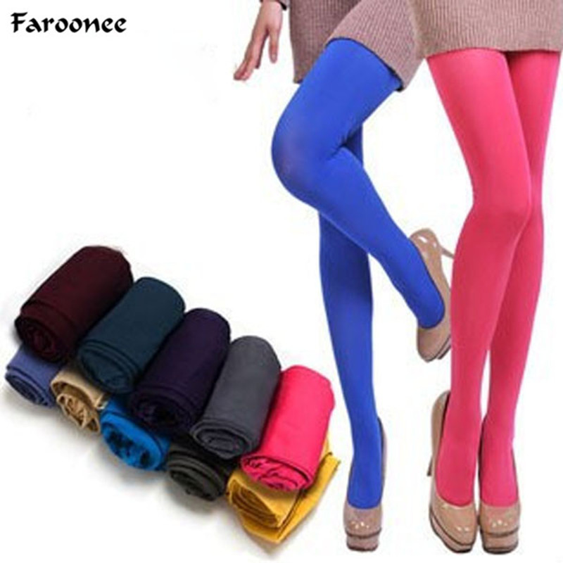 Faroonee Women Candy Color Stockings Spring Summer Stretch  Tights Sexy Hosiery Female Pantyhose 2018 Seamless Stockings S202