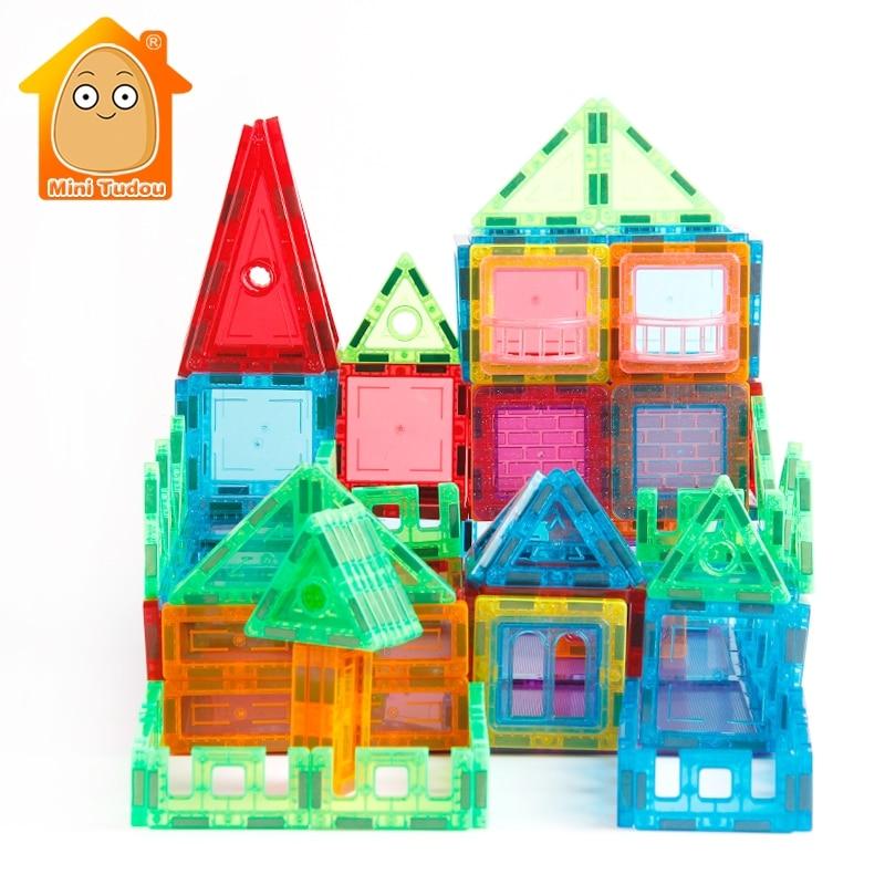 65 100PCS Big Size Magnetic Toys Building Blocks Technic Magnetic Blocks Toys For Kids Construction Set