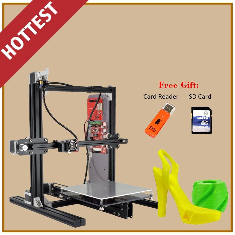 Aluminum Prusa I3 3D Printer Diy Kit ET-I3 Board LCD 12864 With 8-in-1 3D Printer Control Box 3D Filament 1Kg 2017 newest tevo tarantula prusa i3 3d printer diy kit