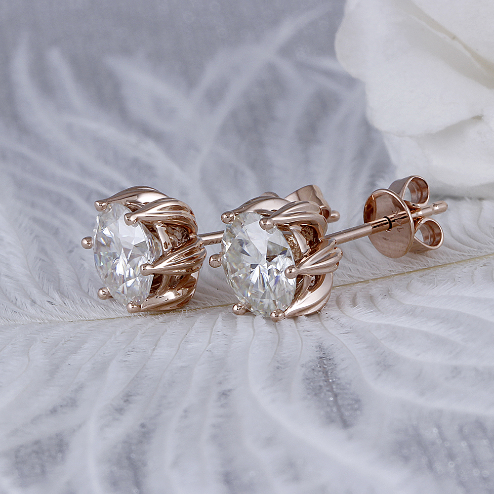 moissanite earrigns rose gold (4)
