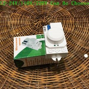 Image 3 - Interruptor de luz con Sensor de microondas, Sensor de movimiento pir, inducción, 12v/110v/220v, 360 grados, novedad