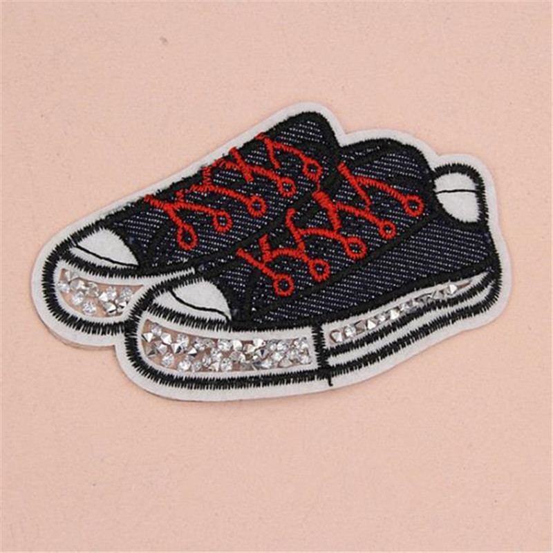 Clothing diy Hot hot drilling iron on patch deal with it 10cm shoes patches for clothes flower stickers fabric free shipping