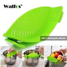 WALFOS, пищевой силиконовый горшок, кастрюля, миска, воронка, ситечко для кухни, для мытья риса, дуршлаги, кухонные аксессуары, гаджеты, кухонные инструменты