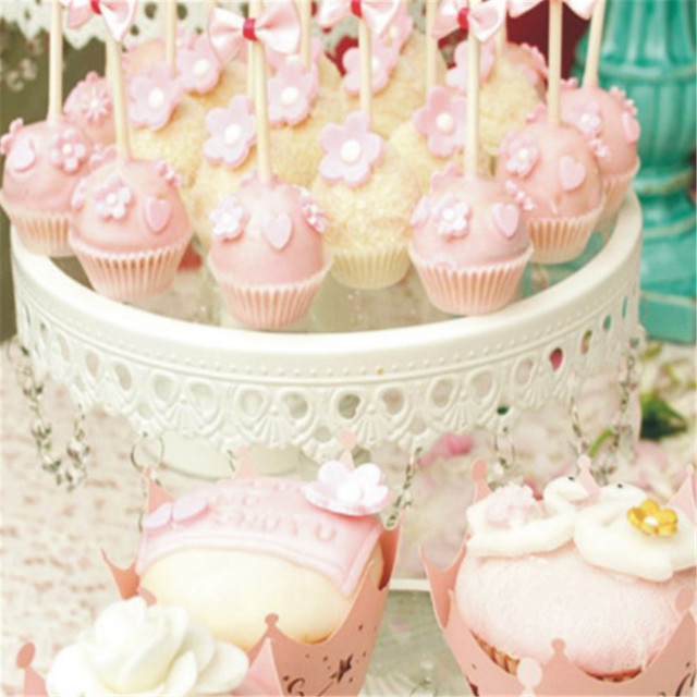10pcs Princess Crown Design Style Paper Vine Lace Cup Cake Wrappers Hollow Muffin Cupcake Wedding Party Birthday Decoration