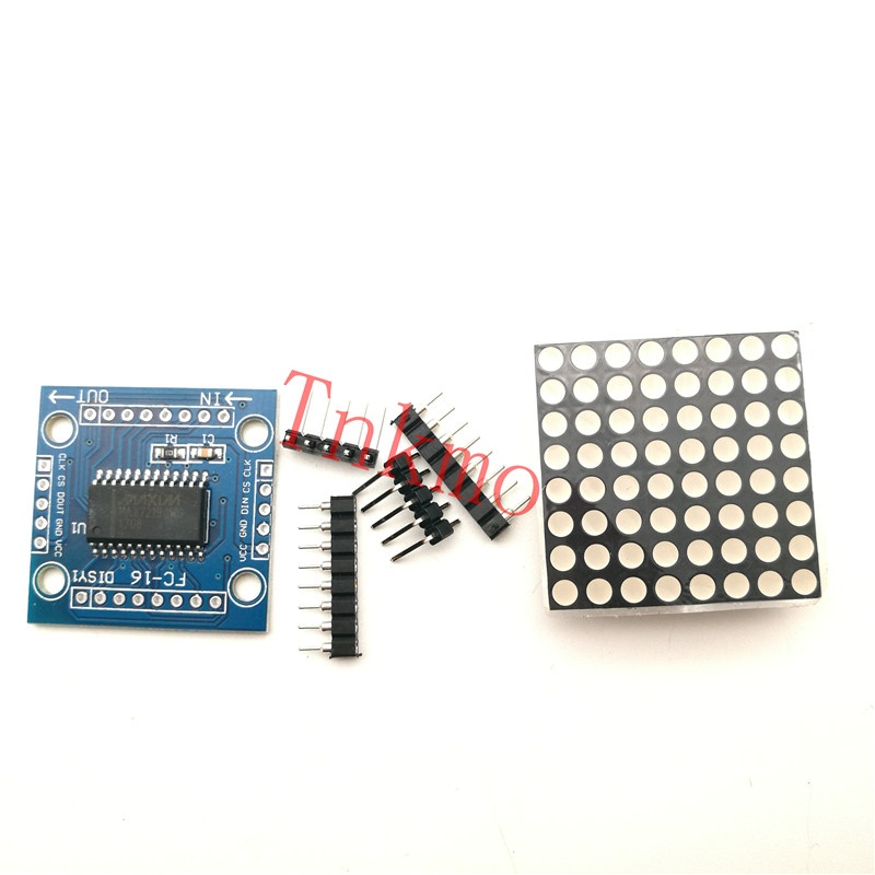 1set MAX7219 dot matrix module 8x8/51 display interface MCU control drive LED microcontroller module DIY KIT 16 32 16x32 dot matrix control display module diy kit red green dual color control led display module electronic fun kit