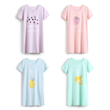 цены Girl Sleepwear Cartoon Fruit Children Clothing Girls Baby Pajamas Cotton Princess Nightgown Kids Home Clothing