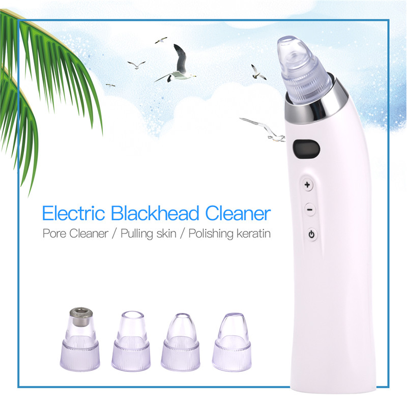 Electric Acne Remover Point Noir Blackhead Vacuum Extractor Comedo Suction Tool Black Spots Pore Cleaner Face Lift Skin Tighten