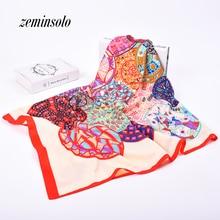 2020 New Fashion Women Geometric Bandana Silk Scarf Luxury Brand Female High Qua
