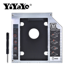 Aluminum Optibay 2nd HDD Caddy 9.5mm hdd case SATA 3.0 2.5″ SSD Hard Disk Driver Case Enclosure for CD-ROM DVD Drive ODD Adapter
