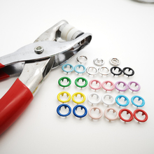 Pliers tool for skin care 9.5mm metal prong snap Buttons 200sets Clamps Press rivets Poppers childrens sliders buckle
