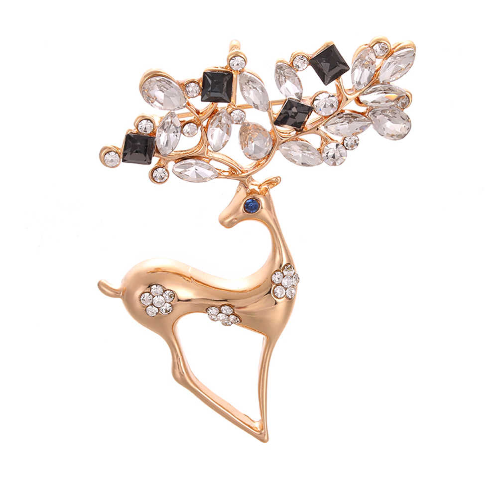 53e85b79940ee Detail Feedback Questions about JUJIE Fashion Crystal Deer Brooches ...