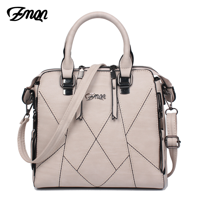 ZMQN Luxury Handbags Women Bags Designer 2018 Famous Brands Women Shoulder Bag PU Leather Tassel Stitching Ladies Hand Bag A801