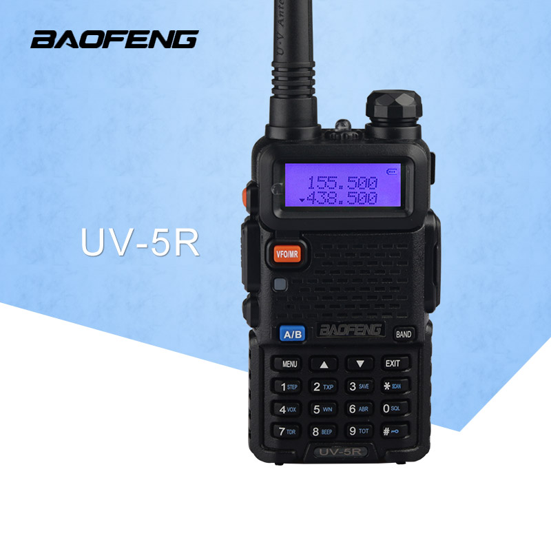 BaoFeng UV-5R Walkie Talkie Professional CB Radio Baofeng UV5R Transceiver 128CH 5W VHF & UHF Handhållen UV 5R för jaktradio