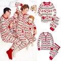 Navidad de la familia Pijamas Familia A Juego Juego de Ropa Ropa Padre Madre Hija Hijo Mon Bebé Año Nuevo Look Familia Conjuntos