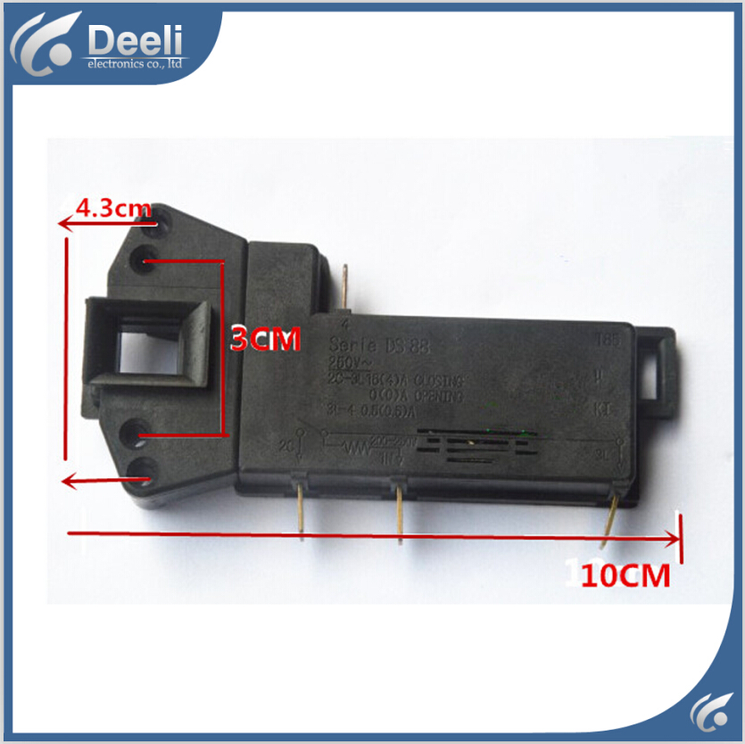 цены Free shipping Original for drum washing machine electric door lock delay switch door lock 4 insert