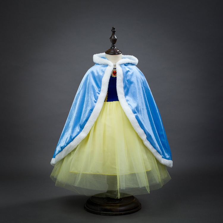 Princess Belle Cinderella Sleeping Beauty Snow White Elsa Cosplay Cloak Mermaid Cape Hoodie Blue Red Yellow Pink Purple Cape