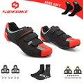 Sidebike дорожный Велосипедный спорт обувь с SPD KEO Сверхлегкий гоночный мотоцикл обувь для мужчин и женщин профессиональные велосипедные кросс...