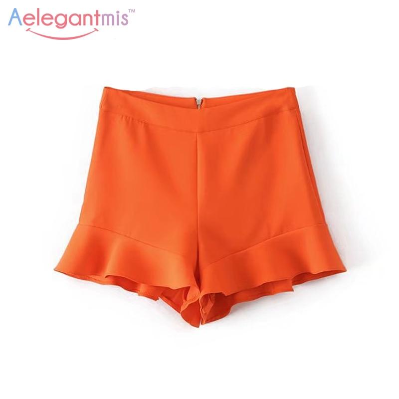 Online Buy Wholesale orange high waisted shorts from China orange ...
