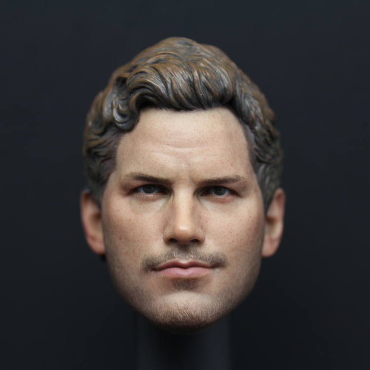 1/6 figure doll head shape 12 action figure accessories Guardians of the Galaxy Star-Lord Peter Quill Chris Pratt Head carved chris wormell george and the dragon