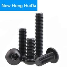 M8 Hex Head Button Socket Cap Screw Allen Hexagon Thread Metric Round Head Machine Mushroom Black Bolt Alloy Steel 10.9 Grade цена 2017