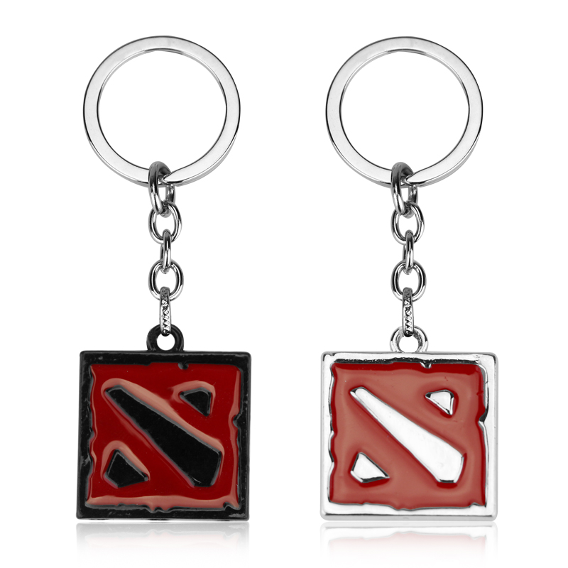 GAME Dota 2 Keychain Figure Toy Jewelry Squad Shield Pendant Keychain Ring Car Accessories Chaveiros Game Fans Souvenir
