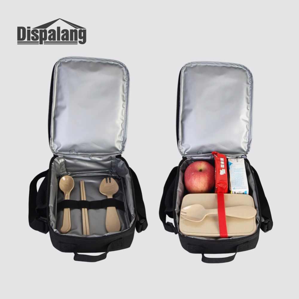 Dispalang уникальный дизайн череп головы 3D печать сумки для обедов для взрослых Портативный детский термальный контейнер для еды сумка-холодильник сумка