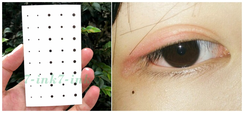 Waterproof Temporary Tattoo Personality  Beauty Spot Tear Stains Water Transfer Fake Tatto Flash Tatoo 10.5*6cm For Man  Woman