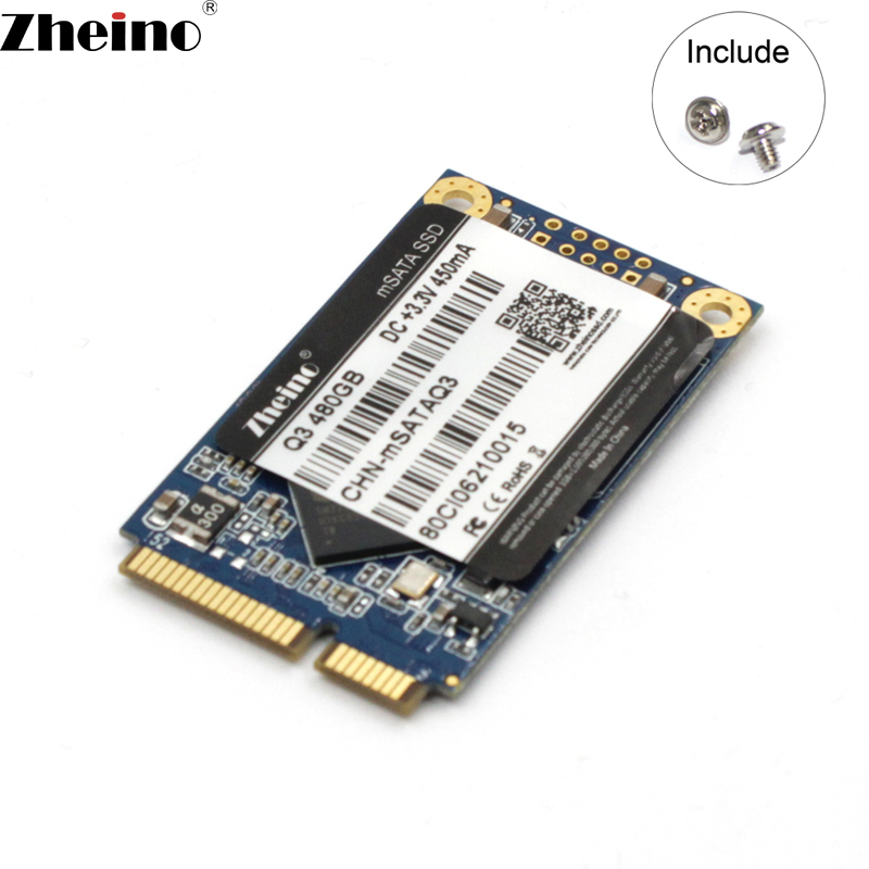 Zheino Q3 mSATA 480GB SSD MSATA3 6GB/S 240gb 120gb Internal Solid State Drive Hard Drive For Laptop Mini PC Tablet PC