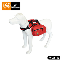 Black Doggy Reflective Dog Backpack 2 In1 Outdoor Pets Harness Accessories For Pet For Small Or