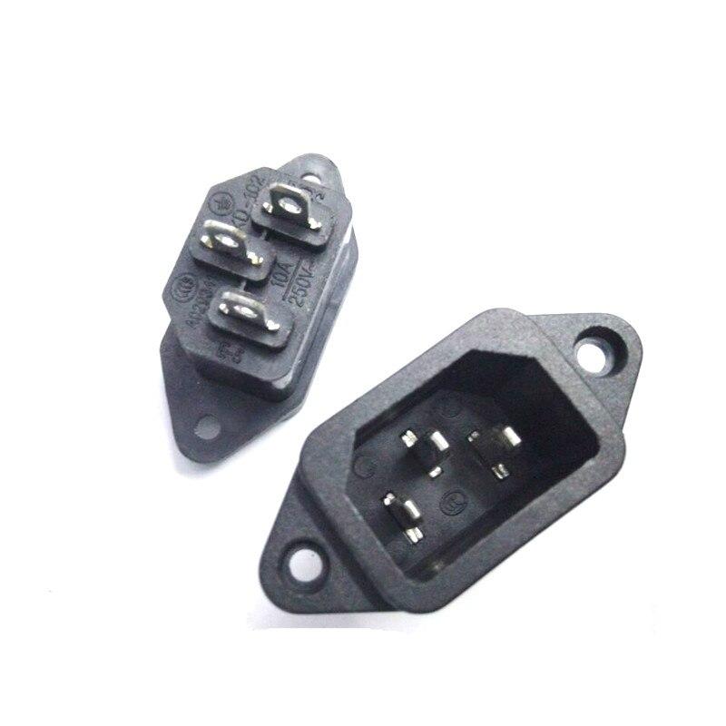 3 uds 3 P IEC 320 C14 macho Panel de alimentación enchufes de entrada conectores AC 250V 10A Enchufe europeo, GSM, enchufe inteligente, inglés, ruso, SMS, Control remoto, interruptor de sincronización, controlador de temperatura con Sensor, enchufe de toma de corriente