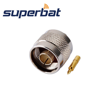 """Superbat  10 pcs N Solder Plug  Male connector Solder for Semi rigid .141"""" cable ,RG402 Free Shipping"""