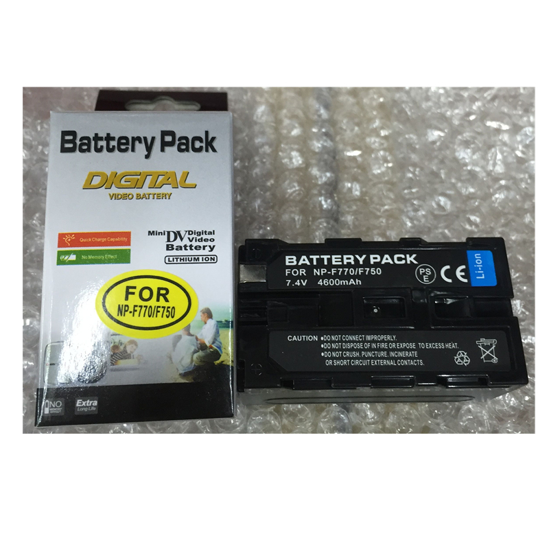 NP-F750 NP-F770 Lithium Batteries For LED Flash light battery F750 NPF770 Digital video camera battery For Sony CCD-TRV58 HVR-Z1