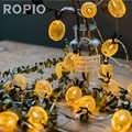 ROPIO 1.5 m 3 m LED Demir Ananas Peri Dize Işık 10/20 LEDs Fenerler Şekilli Dize Işıkları Düğün Için LED decoracion