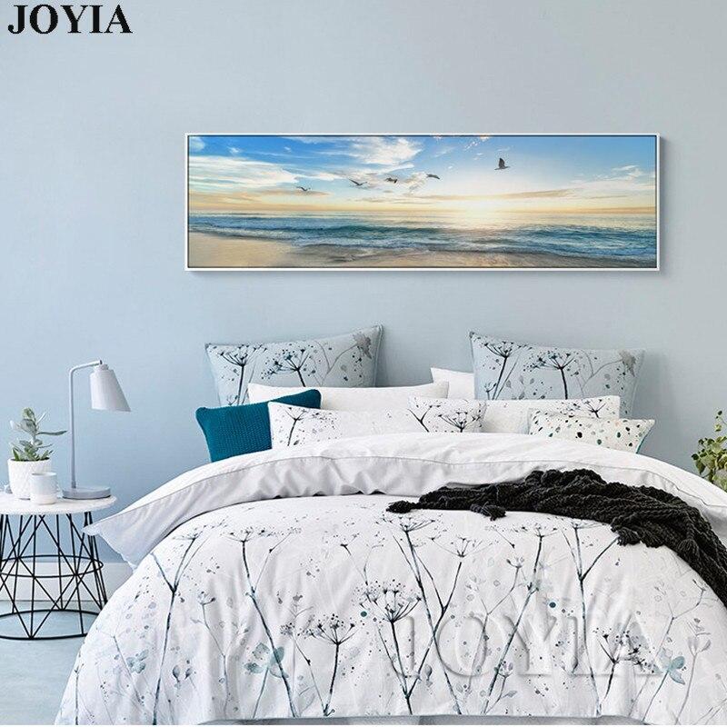 Individual grande mar pintura paisaje marino imagen anochecer olas ...