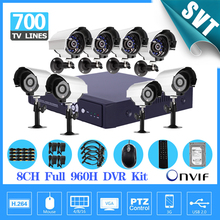 8ch cctv 960H D1 dvr NVR System 8pcs 700tvl outdoor security camera 8ch DVR recorder kit hdd 1tb,iphone Android Remote SK-134