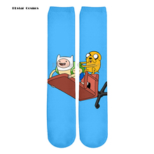 Plstar Cosmos Cartoon Adventure Time 3D Color Print Men & Wome Harajuku style 3d Print Men Women Socks New style Fashion