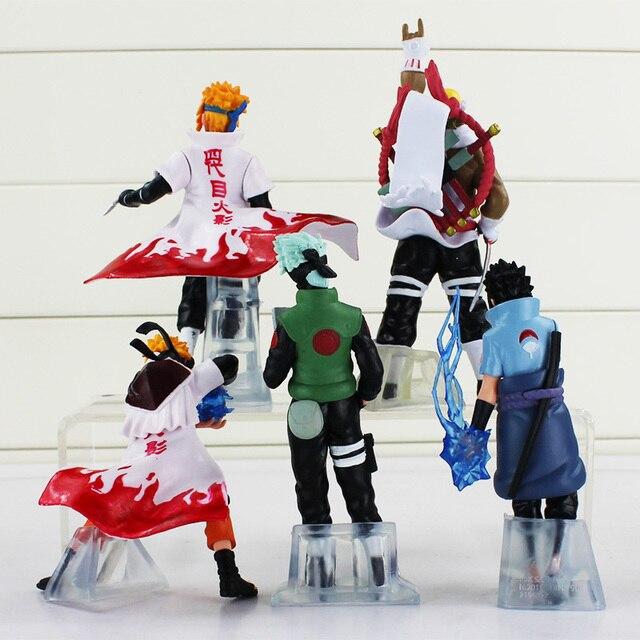 Anime Naruto 5 pcs/set Uchiha Sasuke Kakashi Minato Namikaze PVC Figure Model Toy