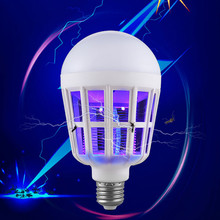 LED Bulb Mosquito Killer Lamp 15 W 220V Electric Trap Light Uv Insect Household