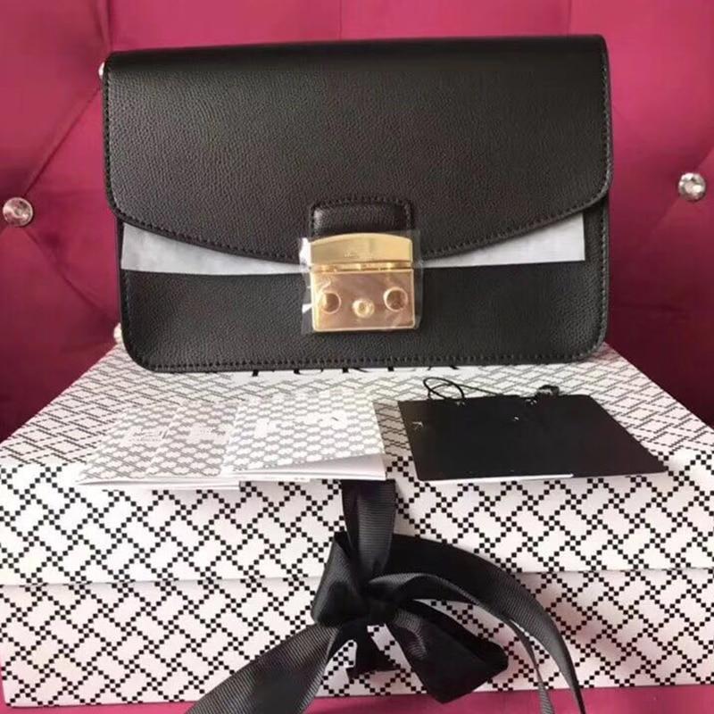 Bolsos De Mujer de cuero genuino de marca famosa bolsos de mensajero de moda para mujeres bolso de noche cadena bolsos de lujo-in Bolsos bandolera from Maletas y bolsas    1