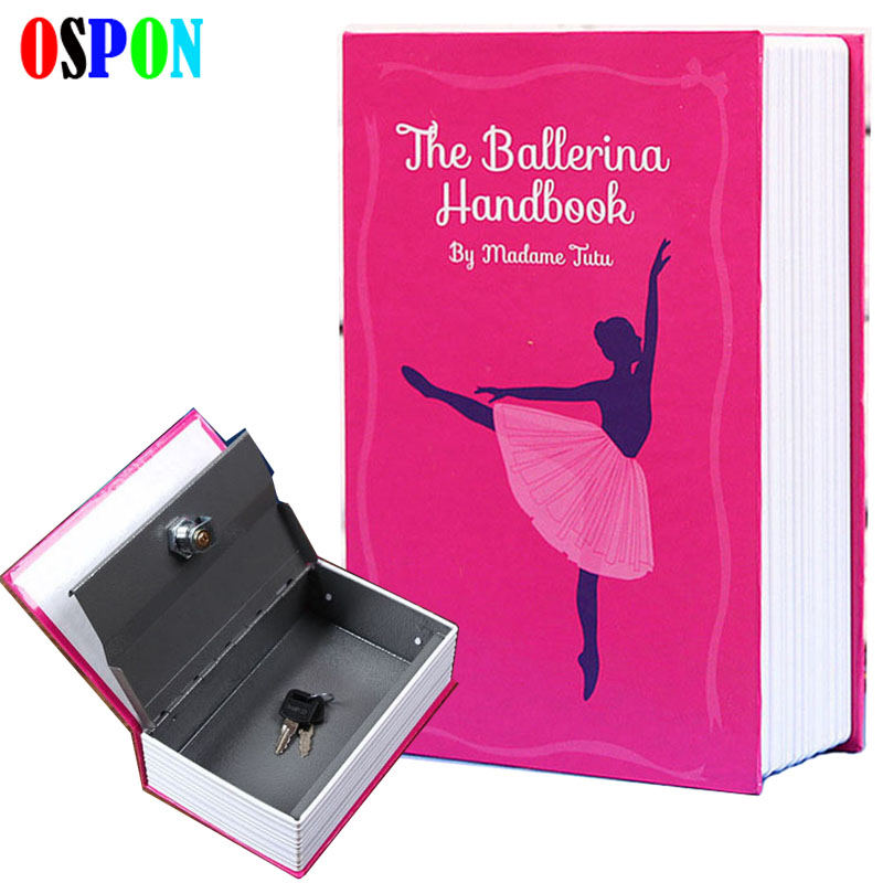 OSPON Book Safes Simulation Dictionary Secret Book Safe Creative Money Cash Jewelry Storage Collection Box Security Bank Size S giantree portable money box 6 compartments coin steel petty cash security locking safe box password strong metal for home school