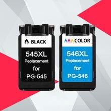 Compatível pg-545 545XL 546XL Substituição Do Cartucho De Tinta para Canon PG545 CL546 para Pixma MG3050 2550 2450 2550S 2950 MX495