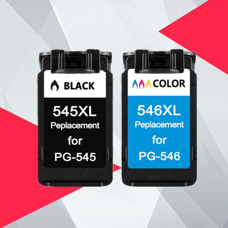 Compatible pg-545 <font><b>545XL</b></font> <font><b>546XL</b></font> Ink Cartridge Replacement for <font><b>Canon</b></font> PG545 CL546 for Pixma MG3050 2550 2450 2550S 2950 MX495 image