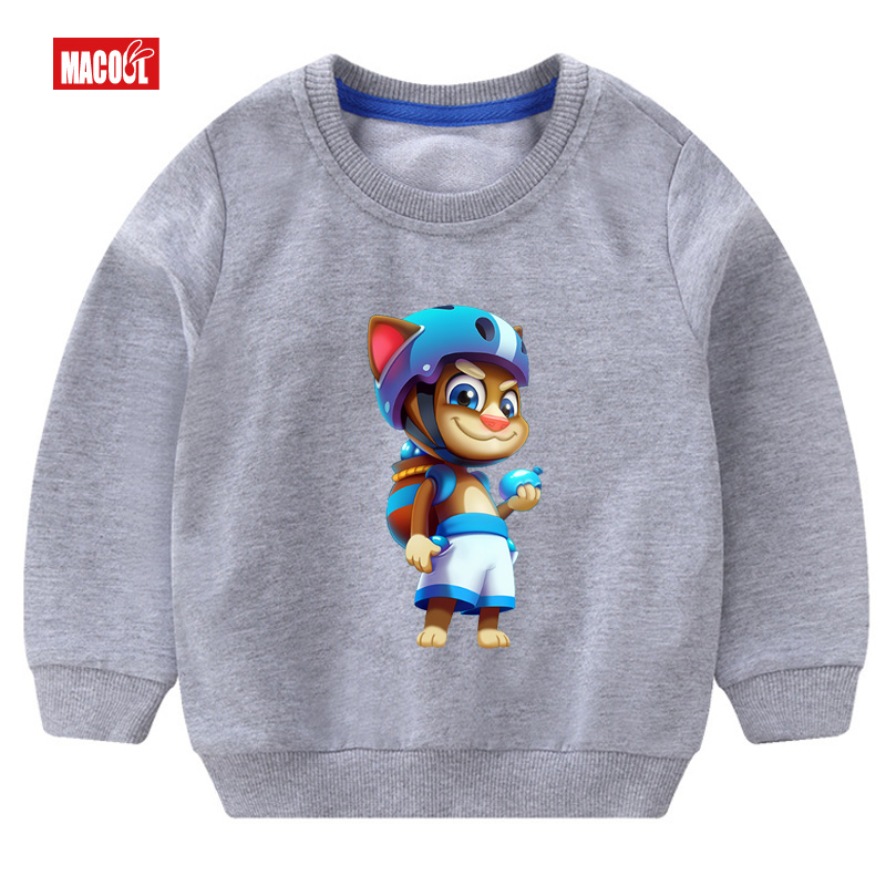 2019 Autumn Casual Girls Colorful Flowers Print Long Sleeve Sweatshirt Loose Cotton Cartoon Printing Tracksuits Fashion Clothes in Hoodies Sweatshirts from Mother Kids